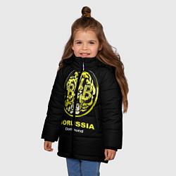 Куртка зимняя для девочки Borussia Dortmund цвета 3D-черный — фото 2