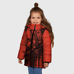Куртка зимняя для девочки Saw Trap цвета 3D-черный — фото 2