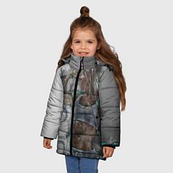 Куртка зимняя для девочки Фитоняшка цвета 3D-черный — фото 2