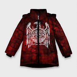 Куртка зимняя для девочки Slayer: Blooded Eagle цвета 3D-черный — фото 1