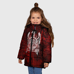 Детская зимняя куртка для девочки с принтом Slayer: Blooded Eagle, цвет: 3D-черный, артикул: 10109345006065 — фото 2