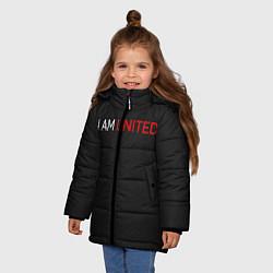 Куртка зимняя для девочки Manchester United team цвета 3D-черный — фото 2