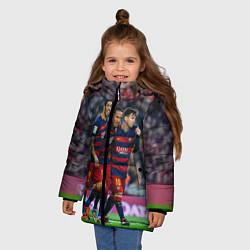 Куртка зимняя для девочки Barcelona5 цвета 3D-черный — фото 2