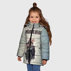 Куртка зимняя для девочки Walking Dead цвета 3D-черный — фото 2