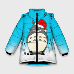 Куртка зимняя для девочки Тоторо под снегом цвета 3D-черный — фото 1