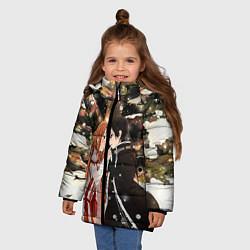 Куртка зимняя для девочки Мастера меча цвета 3D-черный — фото 2