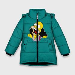 Куртка зимняя для девочки Alien-Homer цвета 3D-черный — фото 1
