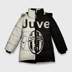 Куртка зимняя для девочки Juventus6 цвета 3D-черный — фото 1