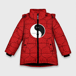 Куртка зимняя для девочки Yin Yang цвета 3D-черный — фото 1
