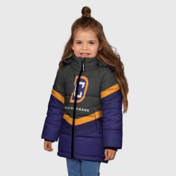 Куртка зимняя для девочки Digital Chaos Uniform цвета 3D-черный — фото 2
