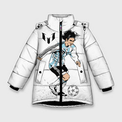 Куртка зимняя для девочки Messi Young цвета 3D-черный — фото 1