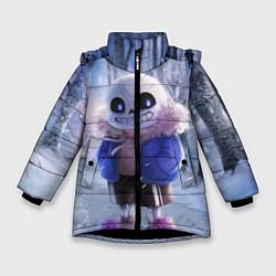 Куртка зимняя для девочки Winter forest & Sans цвета 3D-черный — фото 1