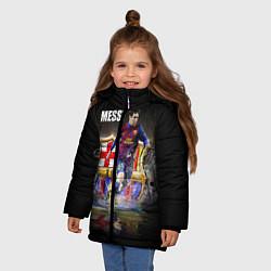 Куртка зимняя для девочки Messi FCB цвета 3D-черный — фото 2
