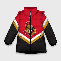 Куртка зимняя для девочки NHL: Ottawa Senators цвета 3D-черный — фото 1