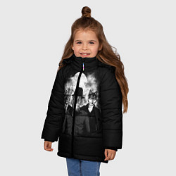 Куртка зимняя для девочки Элитные звери цвета 3D-черный — фото 2