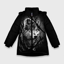 Куртка зимняя для девочки Серый волк цвета 3D-черный — фото 1