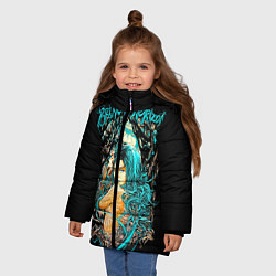 Куртка зимняя для девочки Bring Me The Horizon цвета 3D-черный — фото 2