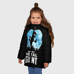 Детская зимняя куртка для девочки с принтом Bender Metal Giant, цвет: 3D-черный, артикул: 10113798806065 — фото 2