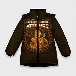 Куртка зимняя для девочки Steampunk Attitude цвета 3D-черный — фото 1