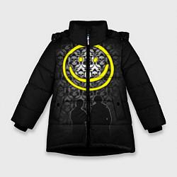 Куртка зимняя для девочки Sherlock Smile цвета 3D-черный — фото 1