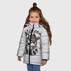 Куртка зимняя для девочки Evil Raccoon цвета 3D-черный — фото 2