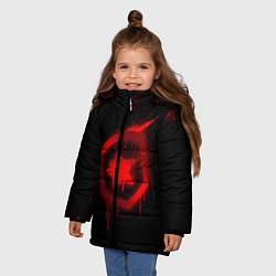 Куртка зимняя для девочки Gambit: Black collection цвета 3D-черный — фото 2