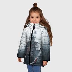 Детская зимняя куртка для девочки с принтом Shadow Tactics, цвет: 3D-черный, артикул: 10115409206065 — фото 2