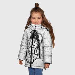 Куртка зимняя для девочки Say no to War цвета 3D-черный — фото 2