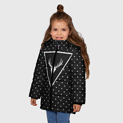Куртка зимняя для девочки Hipster Wonderland цвета 3D-черный — фото 2