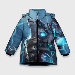 Куртка зимняя для девочки Вербер цвета 3D-черный — фото 1