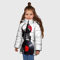 Детская зимняя куртка для девочки с принтом DJ бульдог, цвет: 3D-черный, артикул: 10117899806065 — фото 2