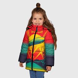 Куртка зимняя для девочки Led Zeppelin: Hindenburg цвета 3D-черный — фото 2