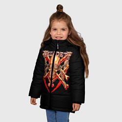 Куртка зимняя для девочки Megadeth: Gold Skull цвета 3D-черный — фото 2