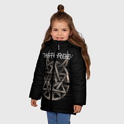 Куртка зимняя для девочки Disturbed Logo цвета 3D-черный — фото 2