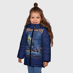 Детская зимняя куртка для девочки с принтом Megadeth: Rust In Peace, цвет: 3D-черный, артикул: 10118735606065 — фото 2