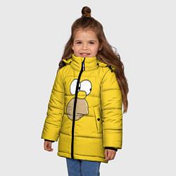 Куртка зимняя для девочки Гомер стесняется цвета 3D-черный — фото 2