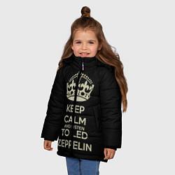Куртка зимняя для девочки Keep Calm & Led Zeppelin - фото 2