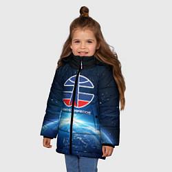 Куртка зимняя для девочки Космические войска 7 цвета 3D-черный — фото 2