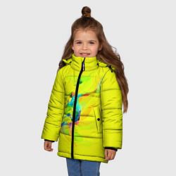 Куртка зимняя для девочки Волейбол цвета 3D-черный — фото 2