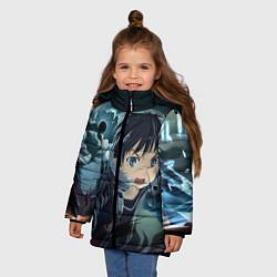 Куртка зимняя для девочки Alice Schuberg2 цвета 3D-черный — фото 2