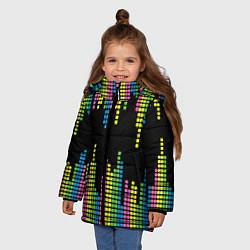 Куртка зимняя для девочки Эквалайзер цвета 3D-черный — фото 2