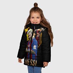 Детская зимняя куртка для девочки с принтом Messi Star, цвет: 3D-черный, артикул: 10126863506065 — фото 2