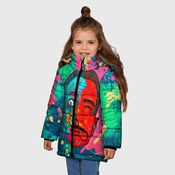Куртка зимняя для девочки Dali Art цвета 3D-черный — фото 2