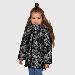 Куртка зимняя для девочки Zombie rush цвета 3D-черный — фото 2