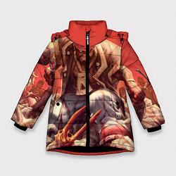 Детская зимняя куртка для девочки с принтом Dead island 5, цвет: 3D-черный, артикул: 10129110206065 — фото 1