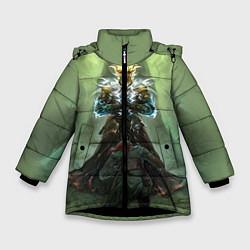 Куртка зимняя для девочки TES: Heaven Knight цвета 3D-черный — фото 1