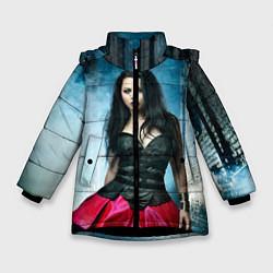 Куртка зимняя для девочки Evanescence цвета 3D-черный — фото 1