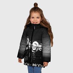 Куртка зимняя для девочки Depeche Mode: mono цвета 3D-черный — фото 2