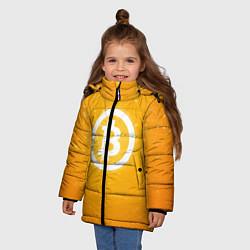 Куртка зимняя для девочки Bitcoin Orange цвета 3D-черный — фото 2