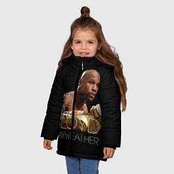 Куртка зимняя для девочки Floyd Mayweather цвета 3D-черный — фото 2